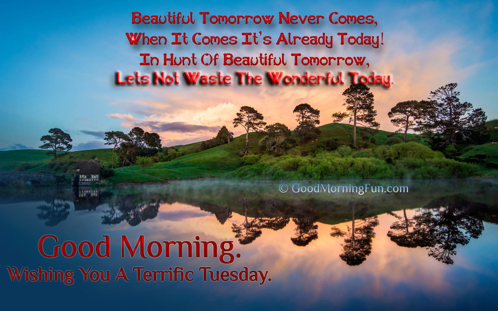 Peaceful Morning Beautiful Tomorrow Live Today Quote Good Morning Fun